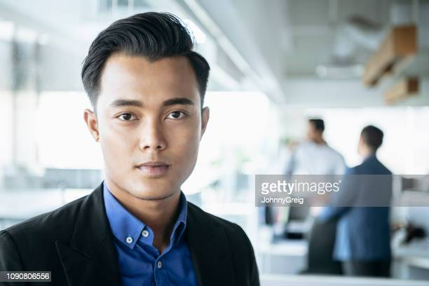 Portrait of serious Malaysian businessman