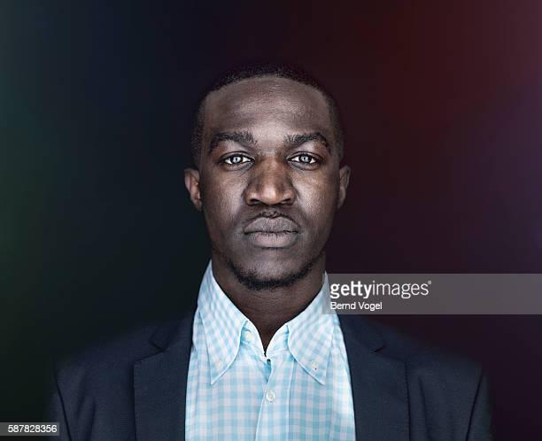 Portrait of serious man