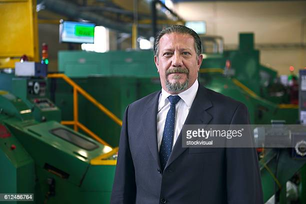 portrait of serious manager in factory - managing director stock pictures, royalty-free photos & images