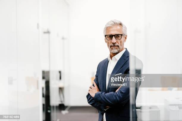 Portrait of serious mature businessman in office
