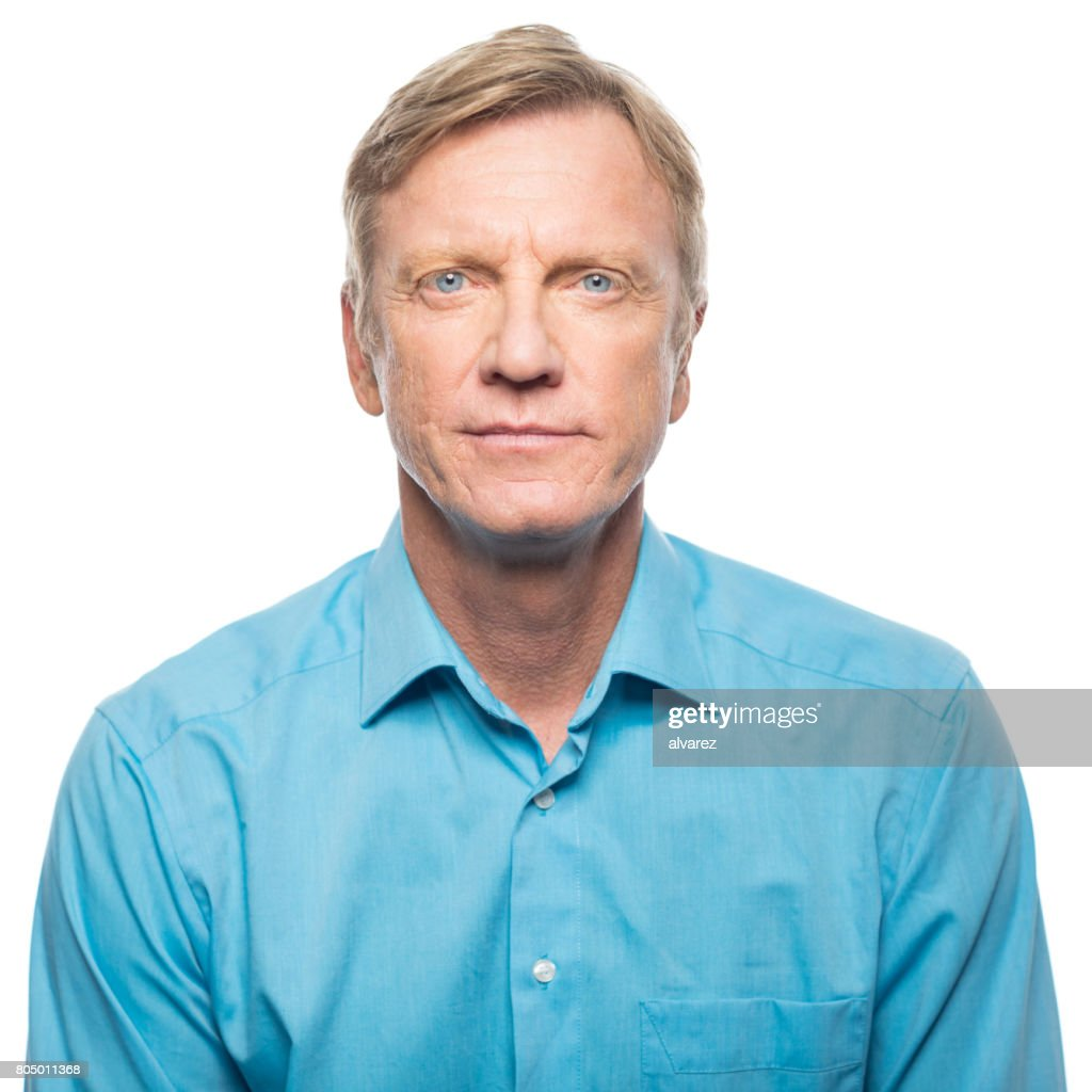 Portrait of serious mid adult man : Foto de stock