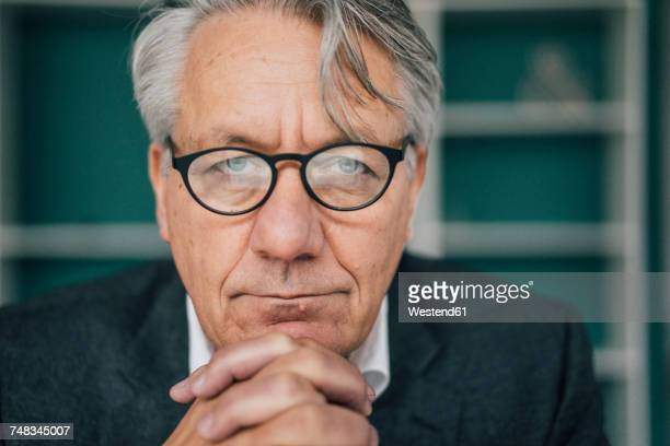 Portrait of serious senior businessman