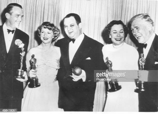 Portrait of several of the Oscar Winners of 1948 Hollywood California March 25 1949 From left Douglas Fairbanks Jr who accept the Best Actor award...