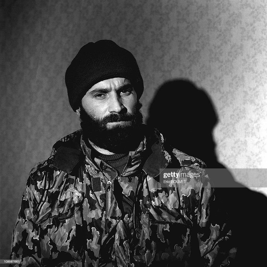 Portrait of Chamil Basayev in Russia in December , 1999. : News Photo