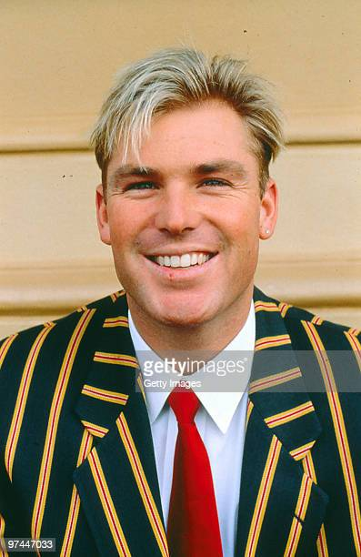Portrait of Shane Warne of Australia.