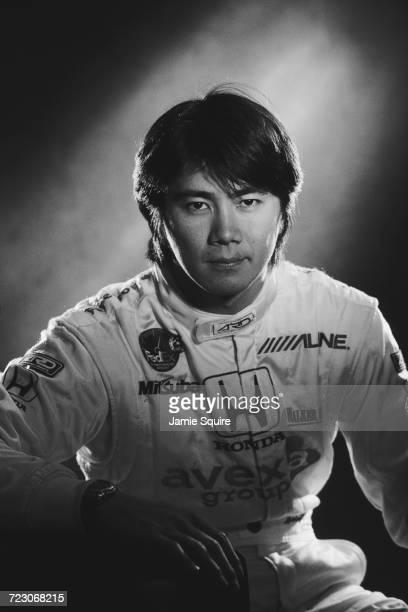 A portrait of Shinji Nakano of Japan driver of the Walker Motorsport Reynard 2KI Honda HRK during testing for the Championship Auto Racing Teams 2000...