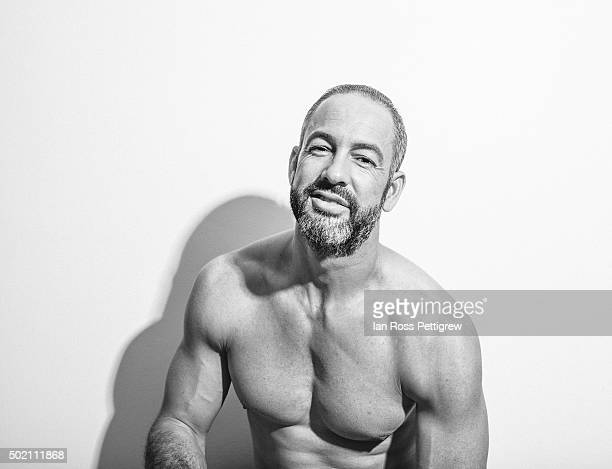 BW portrait of shirtless man