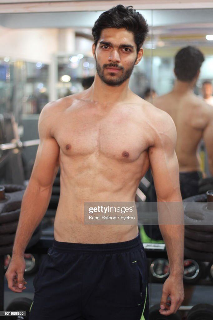 Portrait Of A Muscular Young Man. Stock Photo - Image of