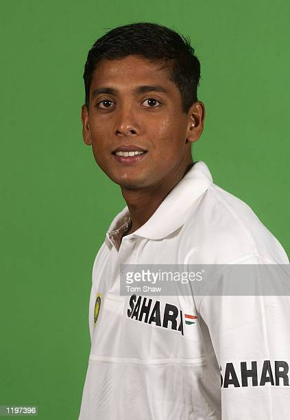 Portrait of Shiv Sunder Das of India during the Indian Cricket Team photoshoot at the Lord's Cricket Ground in London on July 15 2002