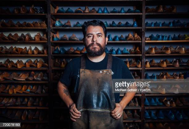 portrait of shoemaker - craftsman stock photos and pictures