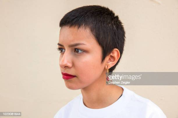 Portrait of short haired young woman 01