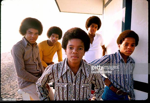 Portrait of sibling American pop music group the Jackson 5 around the time of 'Diana Ross Presents the Jackson 5' their debut album Los Angeles...