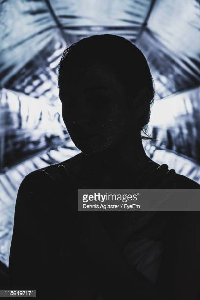 portrait of silhouette man standing outdoors - storm dennis stock pictures, royalty-free photos & images