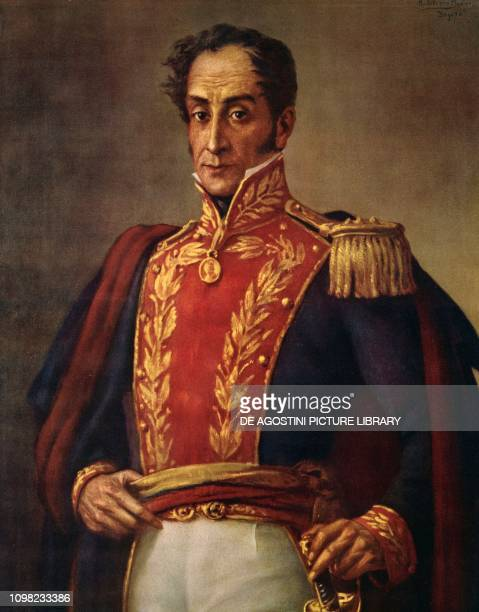Portrait of Simon Bolivar Venezuelan General patriot and revolutionary oil on canvas