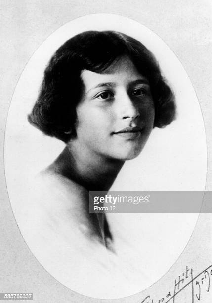 Portrait of Simone Weil 20th century France Private collection
