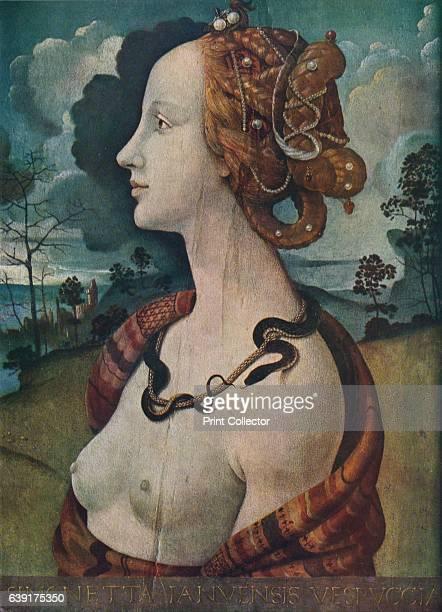 Portrait of Simonetta Vespucci' c1480 Simonetta Vespucci nicknamed la bella Simonetta was an Italian noblewoman from Genoa renowned for being the...