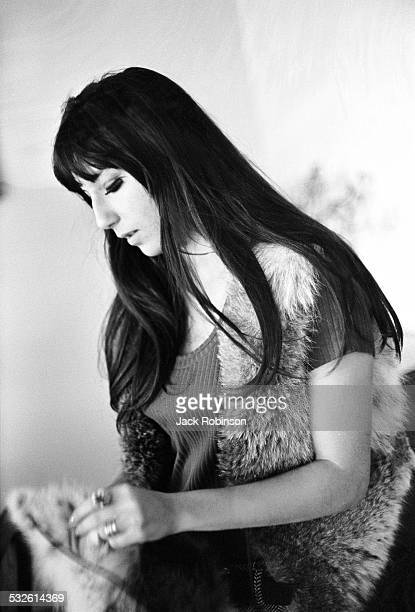 Portrait of singer and actress Cher late 1960s or early 1970s