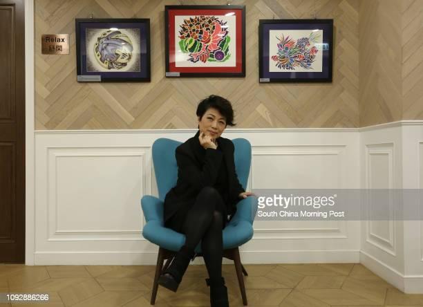 Portrait of singer and artist Mak Kitman and her art on show at The Kinnet 1/F 33 Hillier Street Sheung Wan é·The Art Showé including Makés latest...