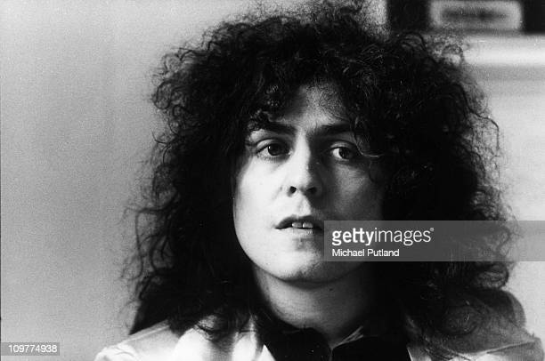 Portrait of singer and guitarist Marc Bolan of T-Rex on 19th April 1972.