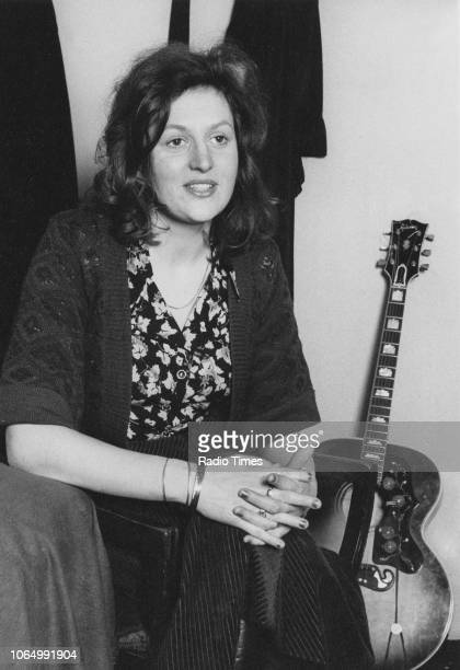 Portrait of singer Barbara Dickson in her dressing room at the Lyric Theatre London February 1975