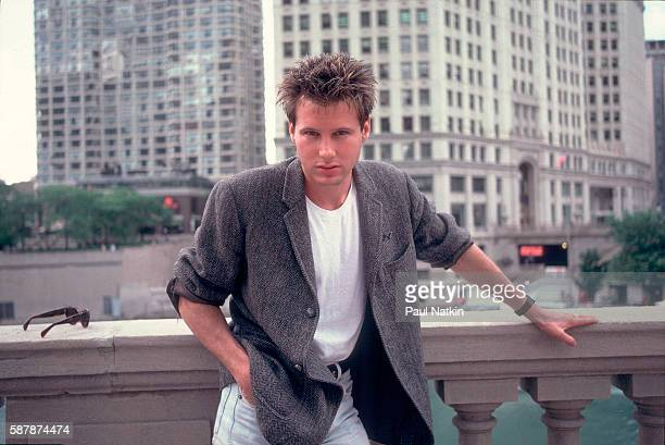 Portrait of singer Corey Hart on the street in Chicago Illinois June 12 1984