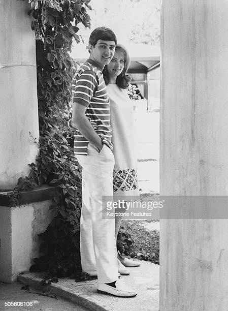 Portrait of singer Gene Pitney and his pregnant wife Lynne Gayton during a holiday in Italy circa 1968