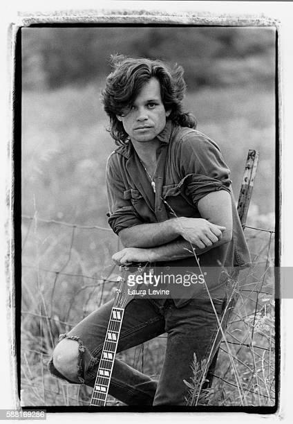 Portrait of singer John Cougar Mellencamp taken near Bloomington Indiana