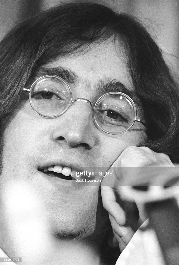 Portrait Of Singer John Lennon The Beatles Late 1960s Or Early 1970s