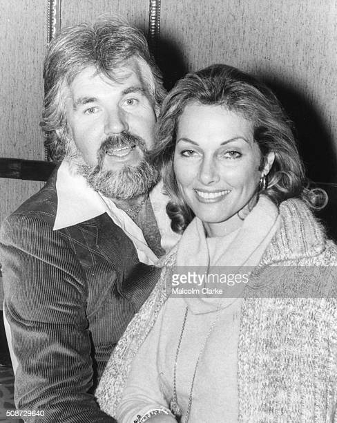Portrait of singer Kenny Rogers and his wife actress Marianne Gordon prior to his concert tour around the country after arriving in Britain November...