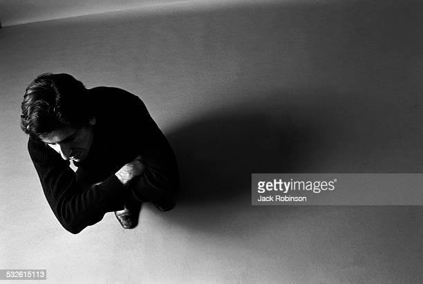 Portrait of singer Leonard Cohen early 1970s