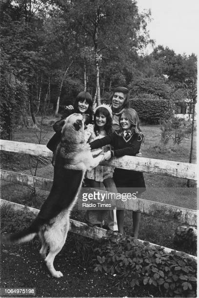 Portrait of singer Marty Wilde and his family son Ricky wife Joyce Smith and daughter Kim at their home in Hertfordshire photographed for Radio Times...