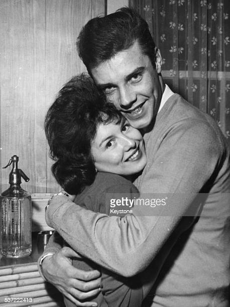 Portrait of singer Marty Wilde and his fiance Joyce Baker prior to their wedding in London October 29th 1959