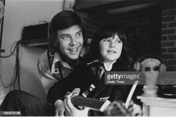 Portrait of singer Marty Wilde and his son Ricky at their home in Hertfordshire photographed for Radio Times in connection with the television show...