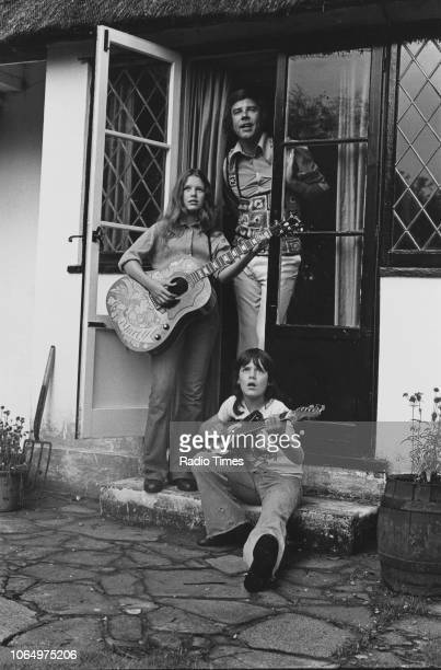 Portrait of singer Marty Wilde with his son Ricky and wife Joyce Smith at their home in Hertfordshire photographed for Radio Times in connection with...