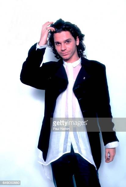 Portrait of singer Michael Hutchence of INXS at the Limelight in Chicago Illinois November 26 1985