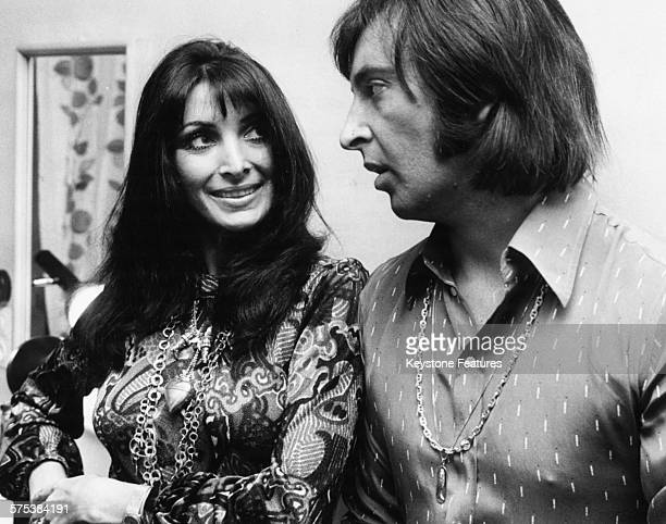 Portrait of singers Dunja Rajter and Les Humphries pictured following the announcement of their engagement Germany June 7th 1972