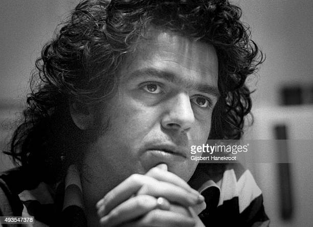 Portrait of singer-songwriter Tim Rose during an interview at the Rockfield Studios, Monmouth, Wales, United Kingdom, 1975.