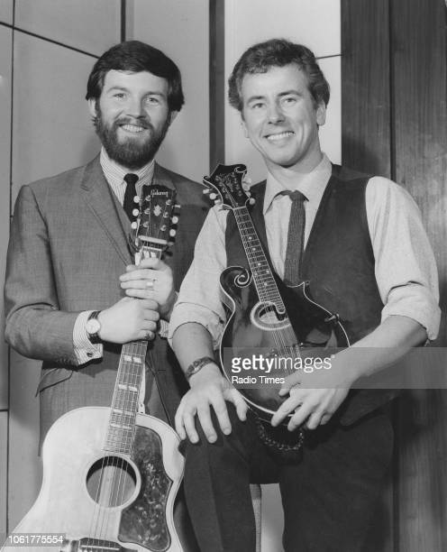 Portrait of singing duo Robin Hall and Jimmie MacGregor photographed for Radio Times in connection with BBC Scotland December 10th 1965