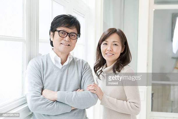 Portrait of sinior man and mature woman
