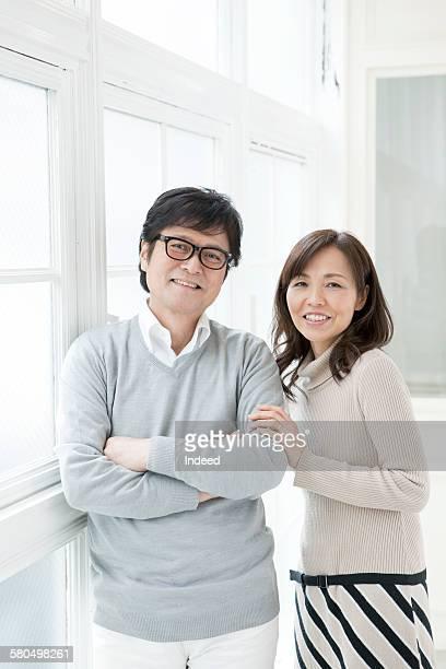 Portrait of sinior man and mature woman