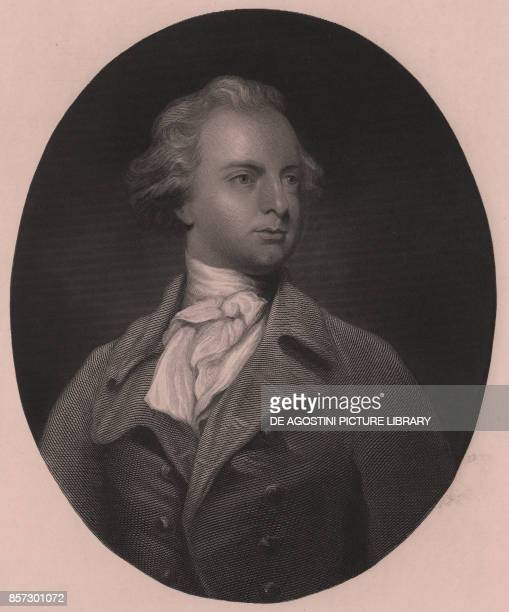 Portrait of Sir Abraham Hume Second Baronet engraving by G Stodard from a painting by Joshua Reynolds 25x33 cm Virtue and Co Publisher London circa...