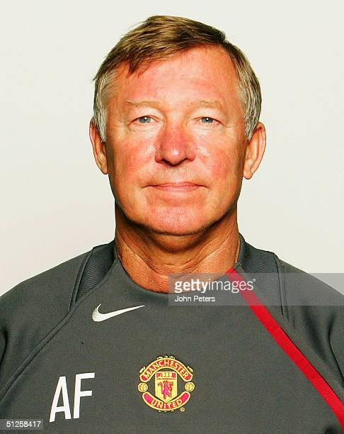Portrait of Sir Alex Ferguson at the annual club photocall at Old Trafford on August 22, 2004 in Manchester, England.