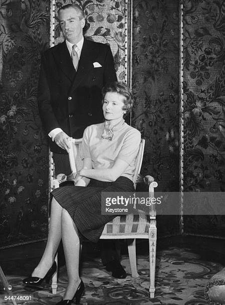Portrait of Sir Anthony Eden and his wife Lady Eden Clarissa Spencer Churchill 1955