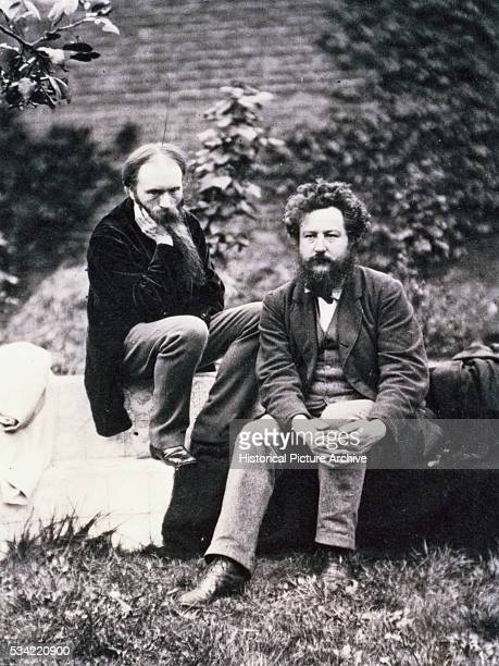 Portrait of Sir Edward BurneJones and William Morris