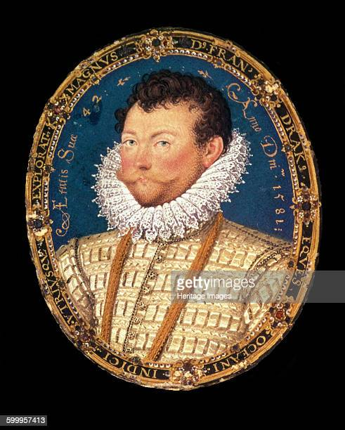 Portrait of Sir Francis Drake 1581 Artist Hilliard Nicholas