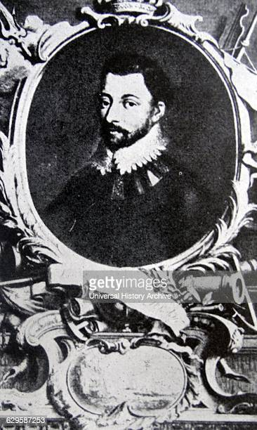 Portrait of Sir Francis Drake an English sea captain privateer navigator slaver and politician of the Elizabethan era Dated 16th Century