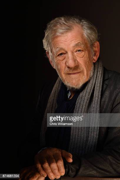 Portrait of Sir Ian McKellen before addressing The Cambridge Union on November 15 2017 in Cambridge Cambridgeshire