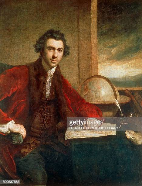 Portrait of Sir Joseph Banks 17711773 English naturalist and botanist longtime president of the Royal Society painted by Joshua Reynolds oil on...