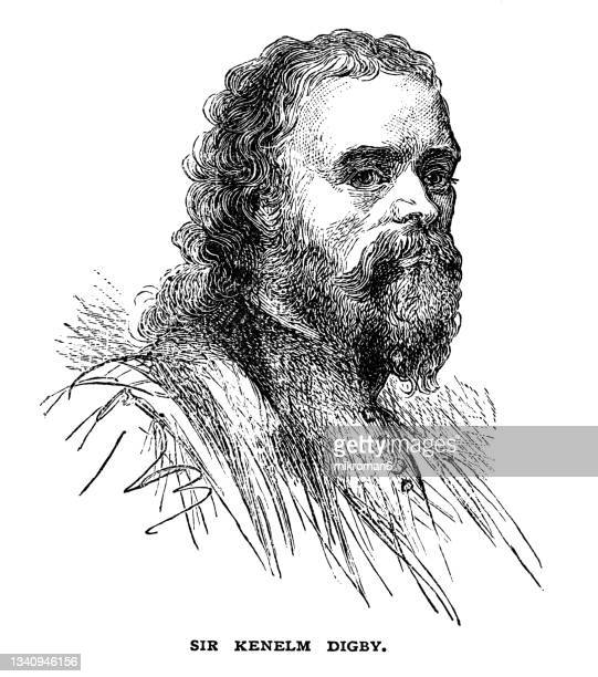 portrait of sir kenelm digby (11 july 1603 – 11 june 1665), english courtier and diplomat - diplomacy stock pictures, royalty-free photos & images
