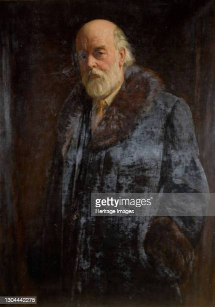 Portrait Of Sir Oliver Lodge, 1923. Artist John Bernard Munns.